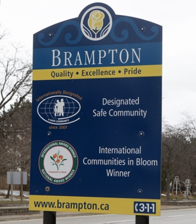 the sign for the City of Brampton