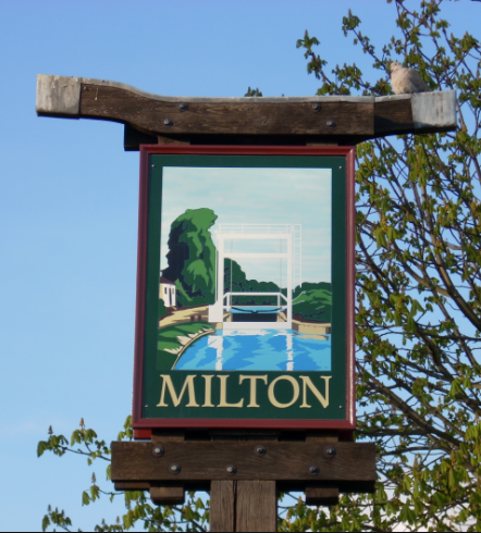 sign for Town of Milton